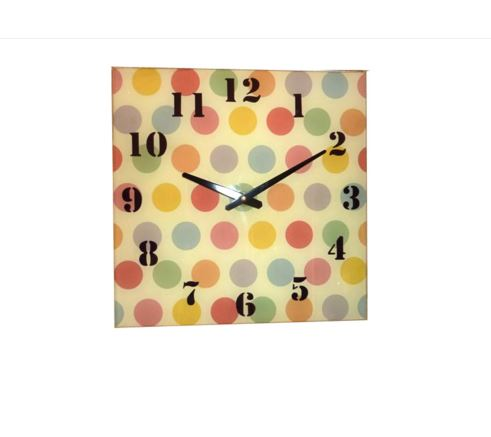 Spotty Glass Wall Clock