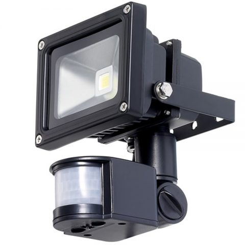 10W Day Light LED Flood Light With PIR Motion Sensor