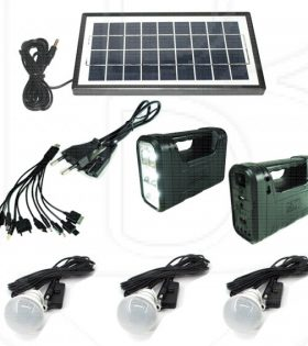 Gdlite 8017B Solar Lighting and Charging Kit