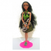 Swahili Princess doll in Green Dress - Straight Hair