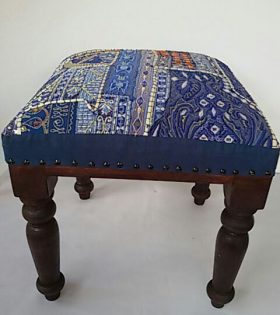 Wooden Upholstered Stool
