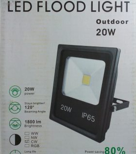 20W LED Slim Floodlight. Save up to 90% on bills.