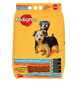 Pedigree Puppy Small to Medium Breed Chicken & Rice - Dry Dog Food 7.0 kg