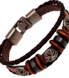 Vintage Leather Bracelet - Handmade