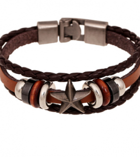 Vintage Leather Bracelet - Casual Wear