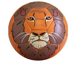 Football with Lion Face Design