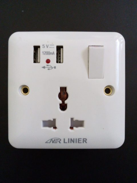 Universal Switched Socket with 2 USB Ports. 20 Years Guarantee