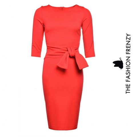 Coral Belted Bodycon