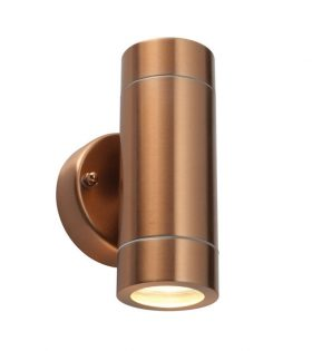 Exterior Up Down Wall Light in Copper Finish