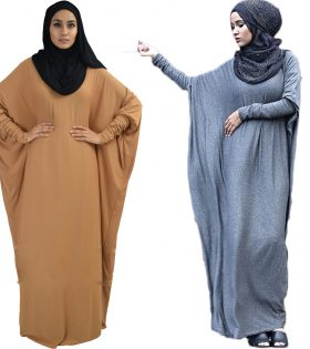 Batwing Abaya Dress Long Dress