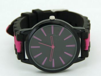 Watch With Hot Color Stripe