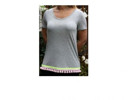 Grey T-Shirt With Trimmings