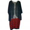 Miss Eos Navy/Red Chiffon Dress