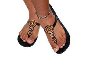 Masaai Bead Sandals - MultiColours