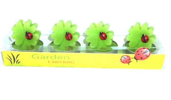 Set of 4 Ladybird Candles