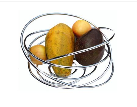 Black and Blum Wire Fruit Bowl