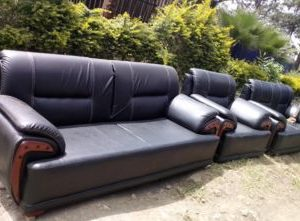 6 seater Leather sofa