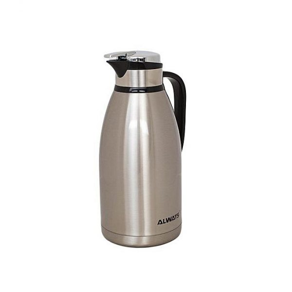 always stainless steel thermos flask jug 2 litres silver fargo shopping. Black Bedroom Furniture Sets. Home Design Ideas