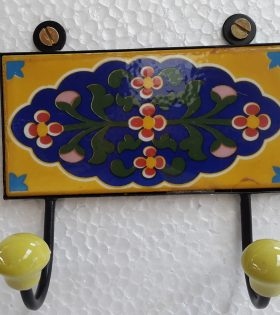 Ceramic Hand painted Double hook