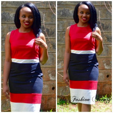 The Fashion Frenzy Red and White official dress