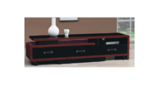 Damian – Glass TV Stand – Brown