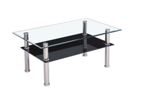 Rangoon – Glass Coffee Table – Black