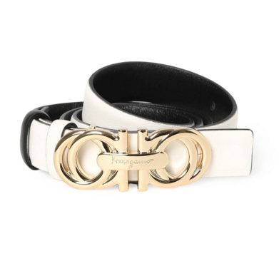 Salvatore Ferragamo Belt - White - Fargo Shopping