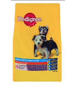 Pedigree Puppy Small to Medium Breed Chicken & Rice - Dry Dog Food 1.5kg