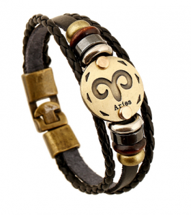 Vintage Constellation Leather Bracelet - Casual Wear