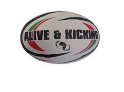 Rugby Ball With Kenyan National Colours