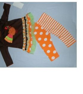 Brown and orange 2 pcs tops