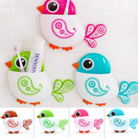 Lovely Bird Storage Organizer with suction cups