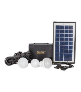 Gdlite 8006A Solar Lighting and Charging Kit