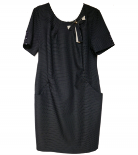 Rah Navy Polka Dress
