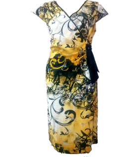 Nass Black/Yellow Dress