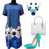 CMA Collection Blue/White Dress
